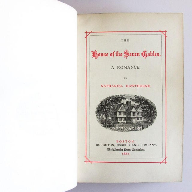 Tan 1880 the Works of Nathaniel Hawthorne Published Boston - 7 Volumes For Sale - Image 8 of 9
