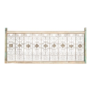 Angoor Teak and Metal Jali Railing For Sale