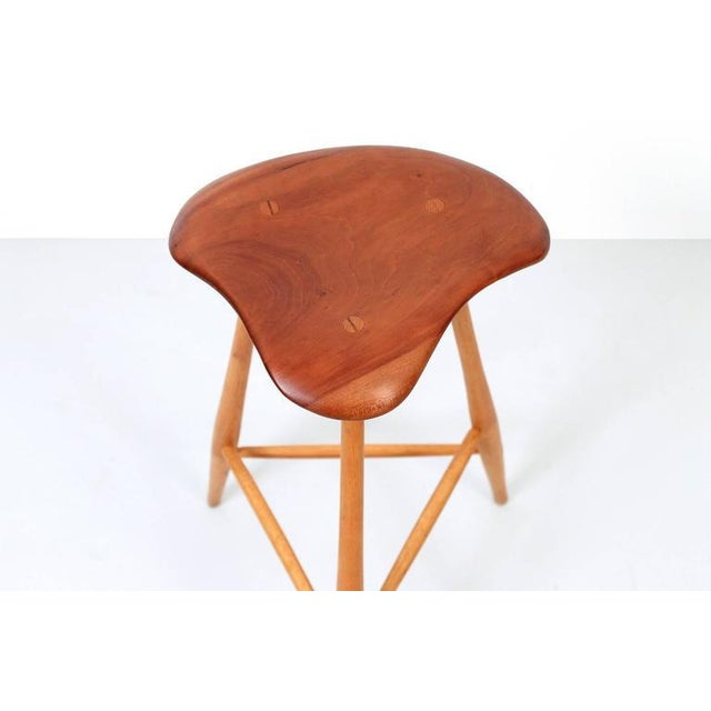 1980s Barstool by Horace B. Hartshaw For Sale - Image 5 of 11