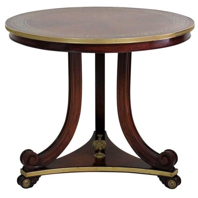 Mid 20th Century Regency/Baltic Style Inlaid Brass Centre Table For Sale - Image 5 of 5