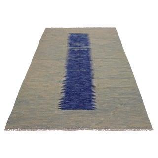 Abstract Shipman Hand-Woven Kilim Wool Rug - 5′8″ × 7′11″ For Sale
