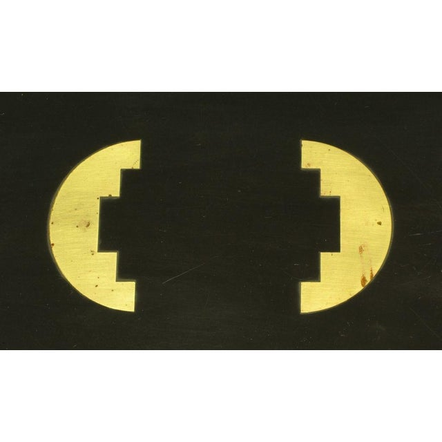 Brass Brass & Black Granite End Table With Geometric Inlay For Sale - Image 7 of 7