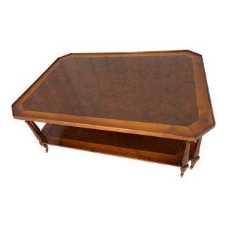 Johnathan Charles Burl-Wood Coffee Table For Sale