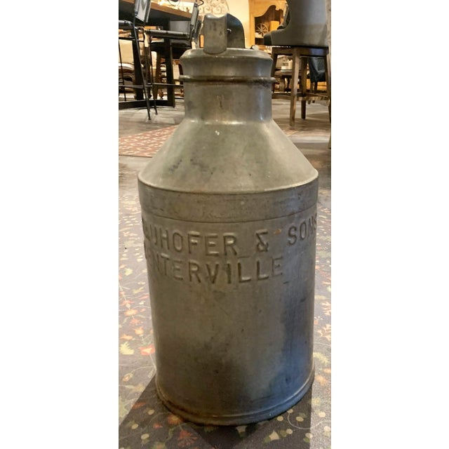 American 1930s Antique Joe Bauhofer & Sons Stainless Steel Milk Jug For Sale - Image 3 of 13