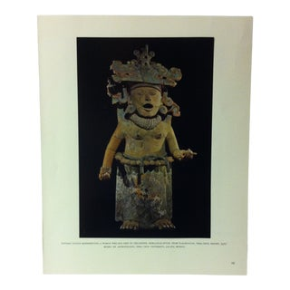 """Circa 1960 """"Pottery Statue Representing a Woman Who Has Died in Childbirth"""" Treasures of Ancient America Mounted Print For Sale"""