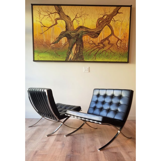 1970's Vintage Barcelona Chair by Knoll - a Pair For Sale - Image 13 of 13