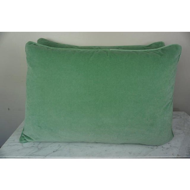 Pair of Italian Venetian Style Green & Gold Pillows For Sale - Image 4 of 7