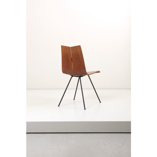 """Metal Set of Eight """"Ga"""" Chairs by Hans Bellmann for Horgen-Glarus, Switzerland, 1950s For Sale - Image 7 of 9"""