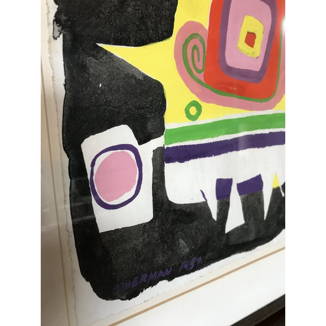 Norman Hoberman Abstract Painting Mixed Media 1959 For Sale In New York - Image 6 of 11