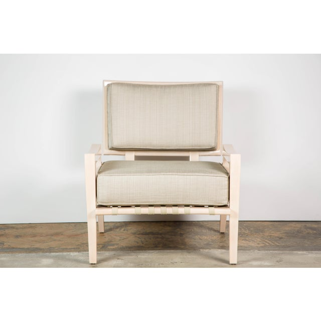 Paul Marra Low Lounge Chair in Bleached Maple For Sale In Los Angeles - Image 6 of 9