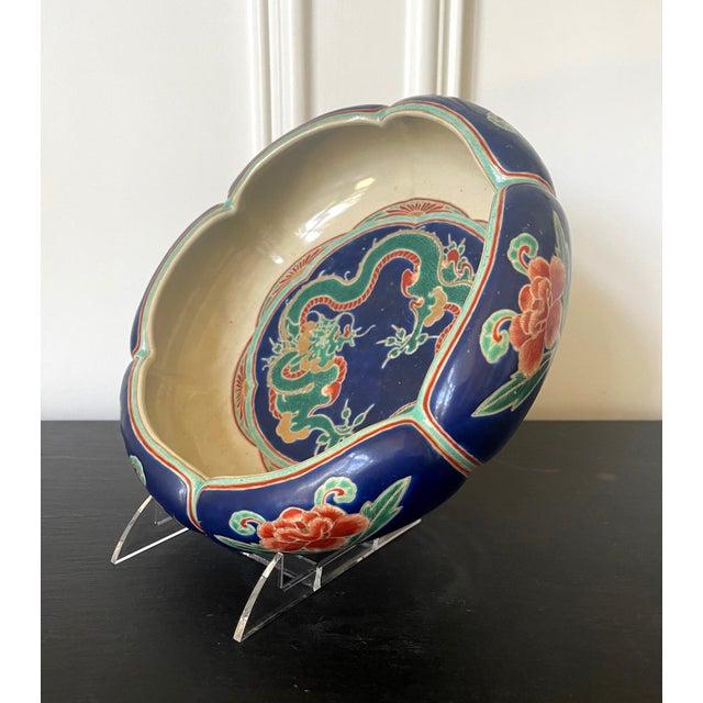 Japanese Ceramic Glazed Bowl Makuzu Kozan Meiji Period For Sale - Image 11 of 13