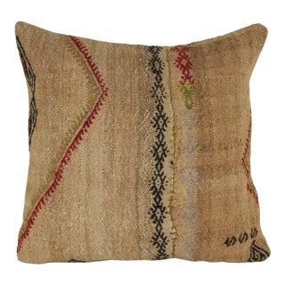 18'' X 18'' Vintage Handwoven Pillow Cover, Farmhouse Kilim Pillow For Sale