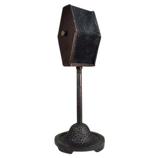 1930s Bi-Directional Ribbon Broadcast Radio Microphone with Stand