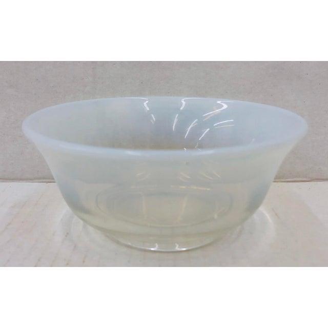 Art Glass Vintage Opaline Cocktail Bowl For Sale - Image 7 of 7
