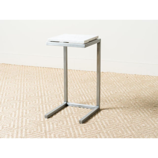 2010s Mid-Century Modern Style Rectangle Steel Patio Side Table For Sale - Image 5 of 5