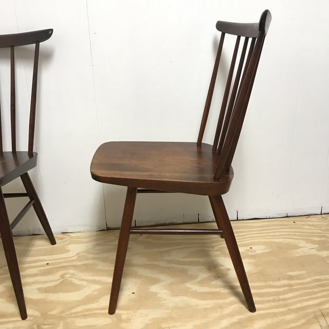 Wood Mid-Century Modern American Studio Craft Solid Walnut Dining Set - 5 Pieces For Sale - Image 7 of 13