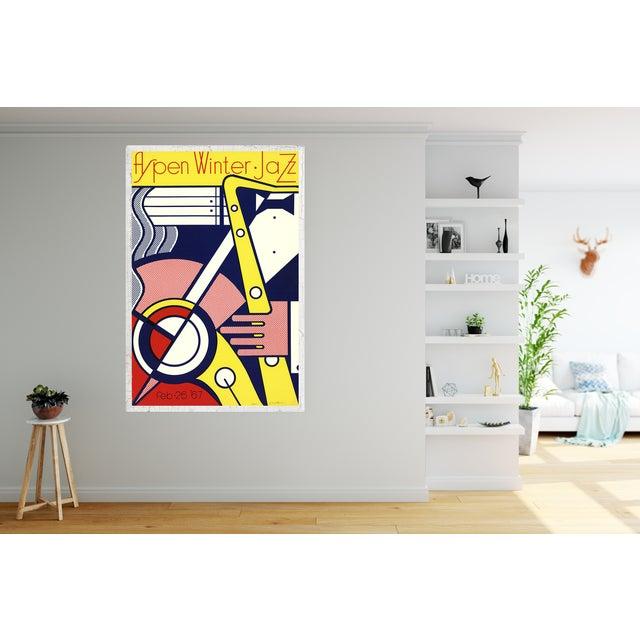 Roy Lichtenstein 'Aspen Winter Jazz' Serigraph by Roy Lichtenstein For Sale - Image 4 of 4