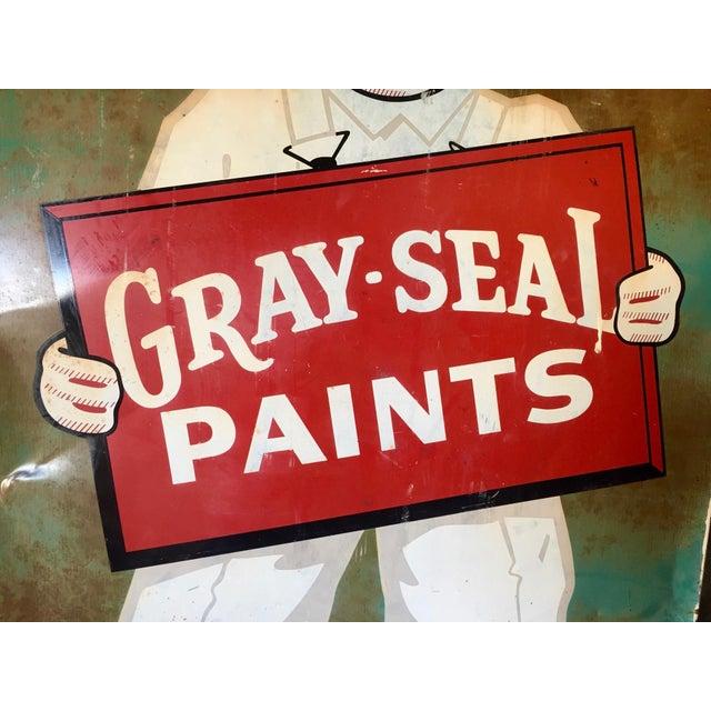 Vintage Original Gray-Seal Paints Sign - Image 8 of 10