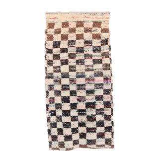 """Vintage Moroccan Boujad Rug - 3'5"""" x 6'11"""""""