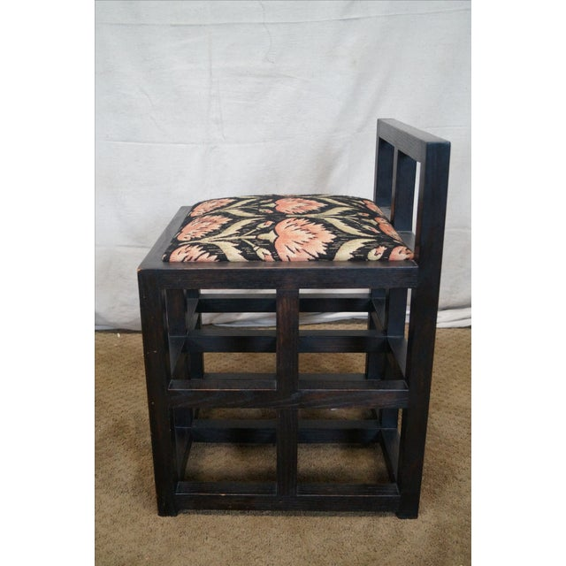 Custom Mission Oak Cube Side Chair - Image 3 of 10