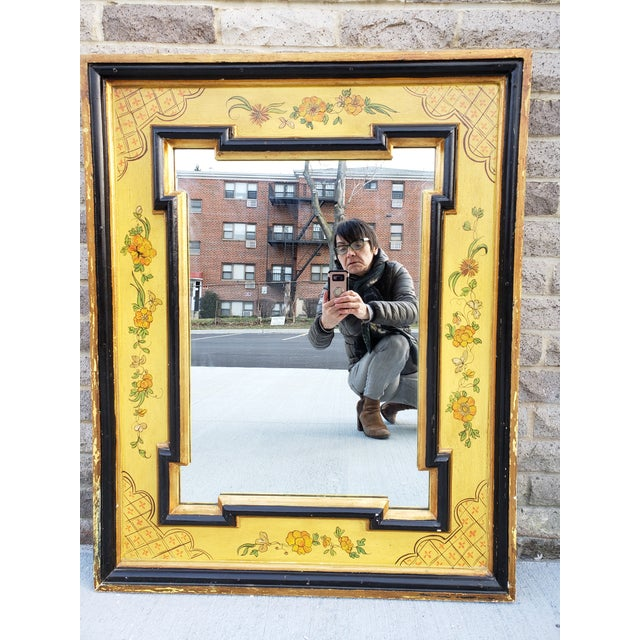 Vintage Italian Hand Painted Mirror For Sale - Image 13 of 13