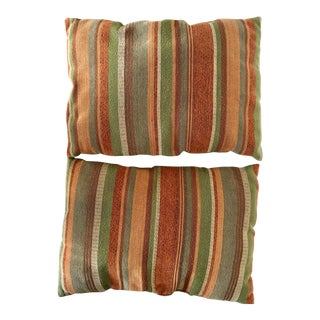Vintage Earth Tone Accent Pillows - a Pair