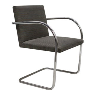 Replica Knoll Brno Tubular Olive Stripe Side Chair For Sale