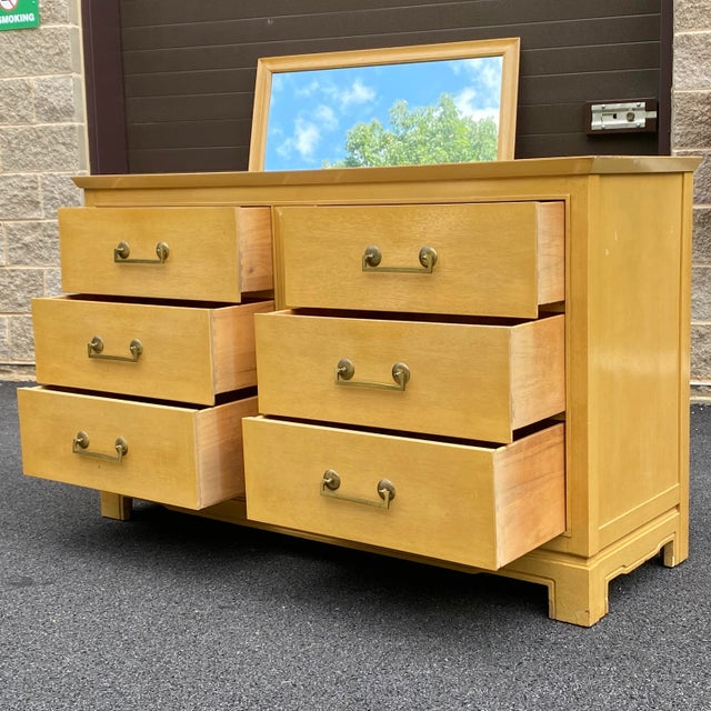 Hollywood Regency Tomlinson Double Dresser For Sale - Image 3 of 13