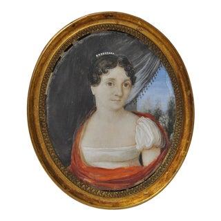 Early 19th Century Classical Italian Portrait Miniature C.1814 For Sale