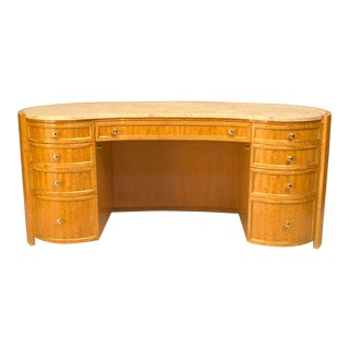 French Louis XVI Style Sycamore Kidney Dressing Table For Sale