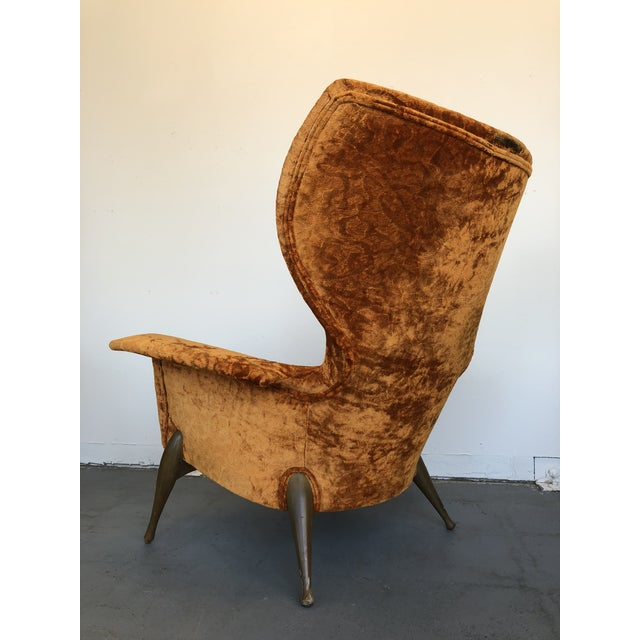1970s 1970s Vintage Ben Seibel Wingback Lounge Chair For Sale - Image 5 of 9