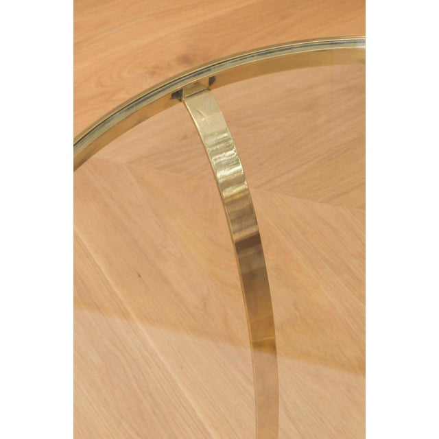 Polished Brass Occasional Table For Sale In San Francisco - Image 6 of 7