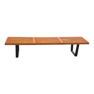 1940s Vintage Early George Nelson Slat Bench For Sale