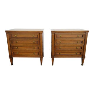 Mid Century Modern Nightstands by White Furniture-a Pair For Sale