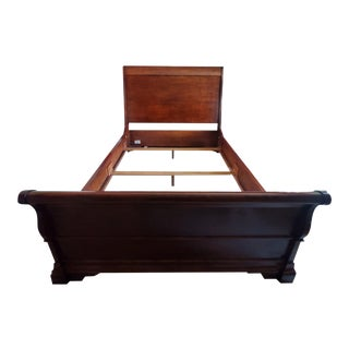 Traditional Henredon Queen Sleigh Bed For Sale