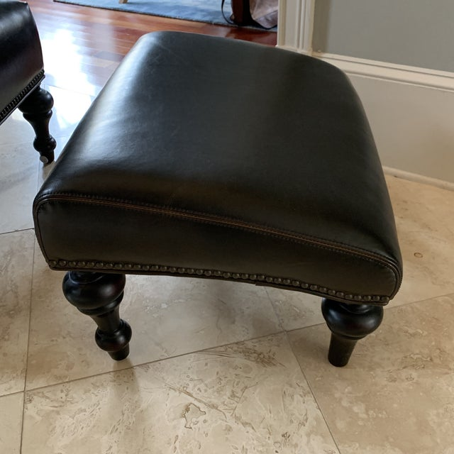 Classic Study Chair & Ottoman For Sale - Image 12 of 13