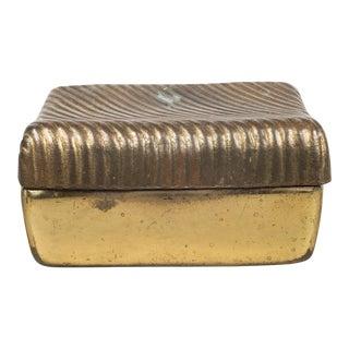 Ben Seibel for JenFred Ware Copper Plate Trinket Box C.1960 For Sale