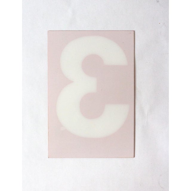 Classic plexiglass gas station number in the number 3. Beautiful graphic look that will pair well with many decor styles....