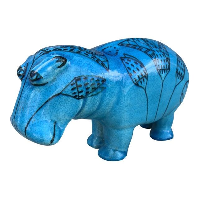 """1960s Bitossi Rimini """"William the Hippopotamus"""" For Sale"""