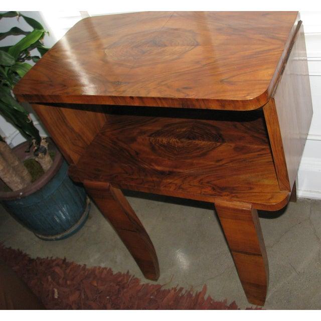French Art Deco Burl Wood Cabinet / Liquor Bar - Image 6 of 11