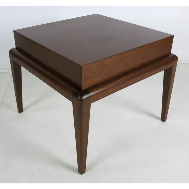 Elegant Modern pair of Mahogany Side Tables by Seth Ben-Ari. The tables are beautifully constructed of fantastic...