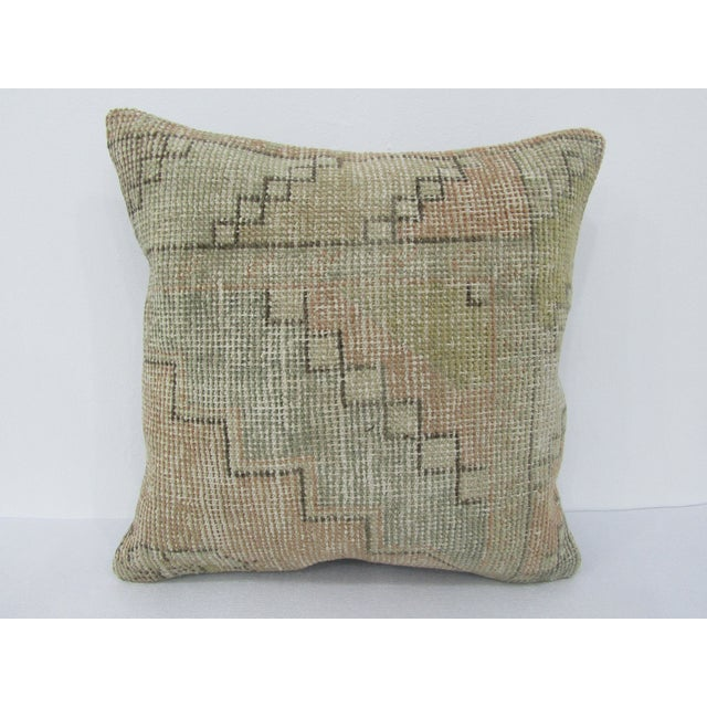 Turkish Worn Vintage Decorative Pillow Cover For Sale - Image 4 of 4