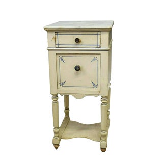 19th Century Shabby Chic French Country Bedside Table For Sale