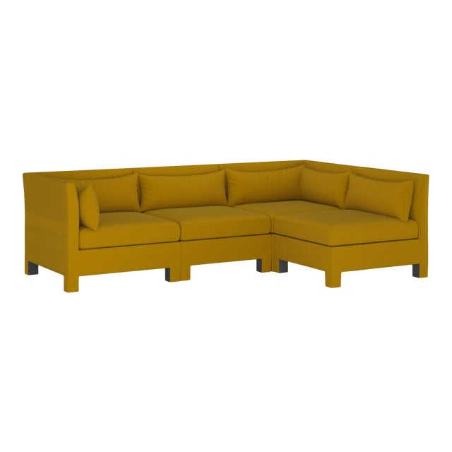 4 Piece Sectional , Monaco Citronella For Sale