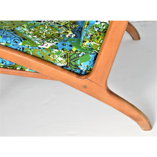 1960s Mid Century Danish Modern Solid Teak Selig Style Lounge Chair --MCM Tropical Coastal Boho Chic Haute Bohemian For Sale - Image 5 of 12