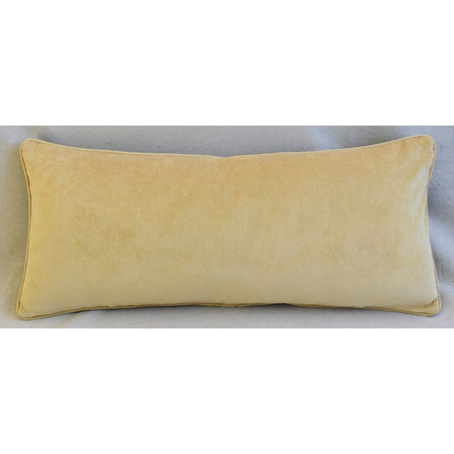 """Early 21st Century Italian Scalamandre Velvet Marly Feather/Down Pillow 33"""" X 14"""" For Sale - Image 5 of 7"""