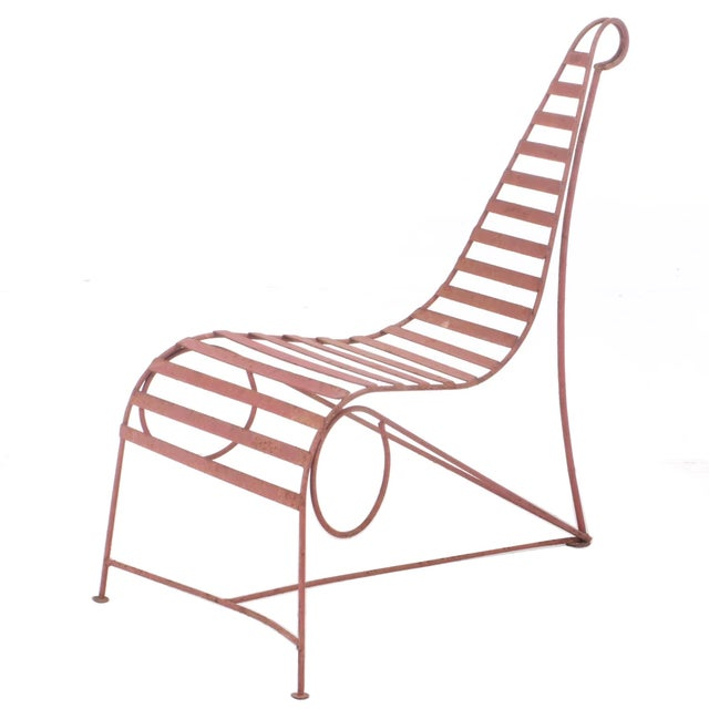 Andre Dubreuil Style Sculptural Garden Chaise For Sale - Image 6 of 6