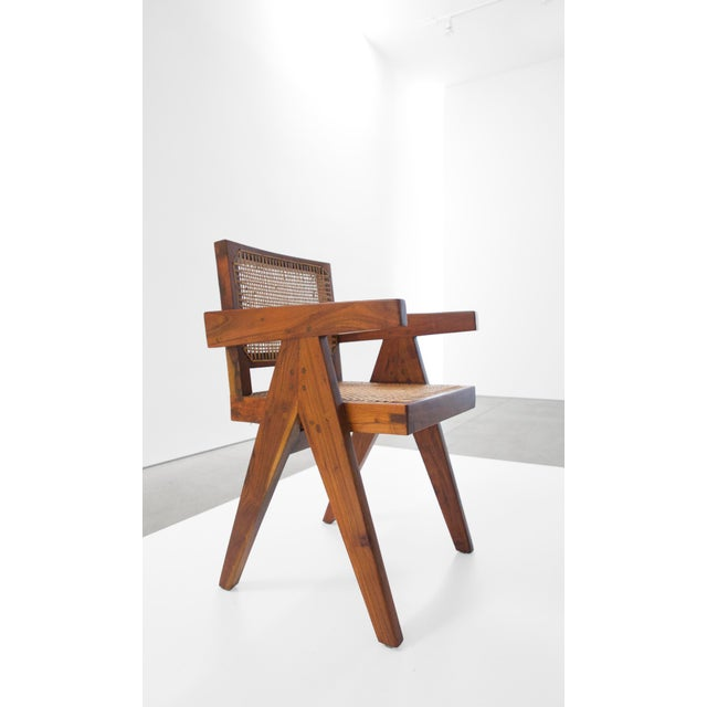 1950s Pierre Jeanneret Teak Conference Chair From Chandigarh, India, C. 1952 - 1956 For Sale - Image 5 of 10
