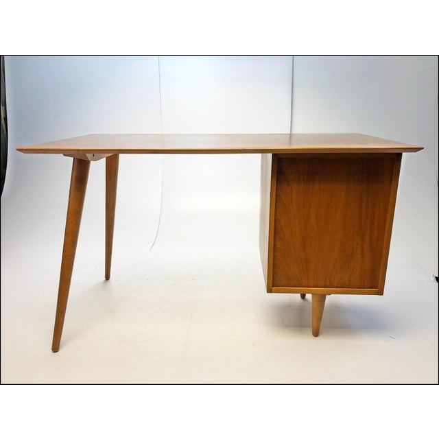Mid Century Modern Paul McCobb Planner Group Desk & Chair For Sale - Image 5 of 13