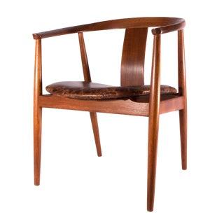1950s Danish Modern Tove and Edvard Kindt-Larsen for Soro Yoke Chair For Sale